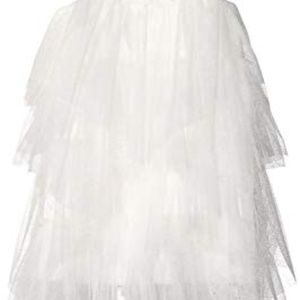 Le Pink Dresses - Boutique Tulle Dress Girls Tiered Mesh Fairy White